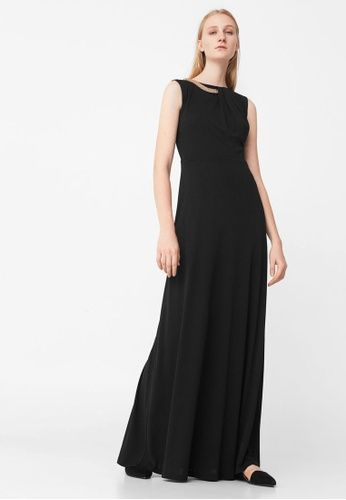 Chain Collar Dress from Mango in black_1