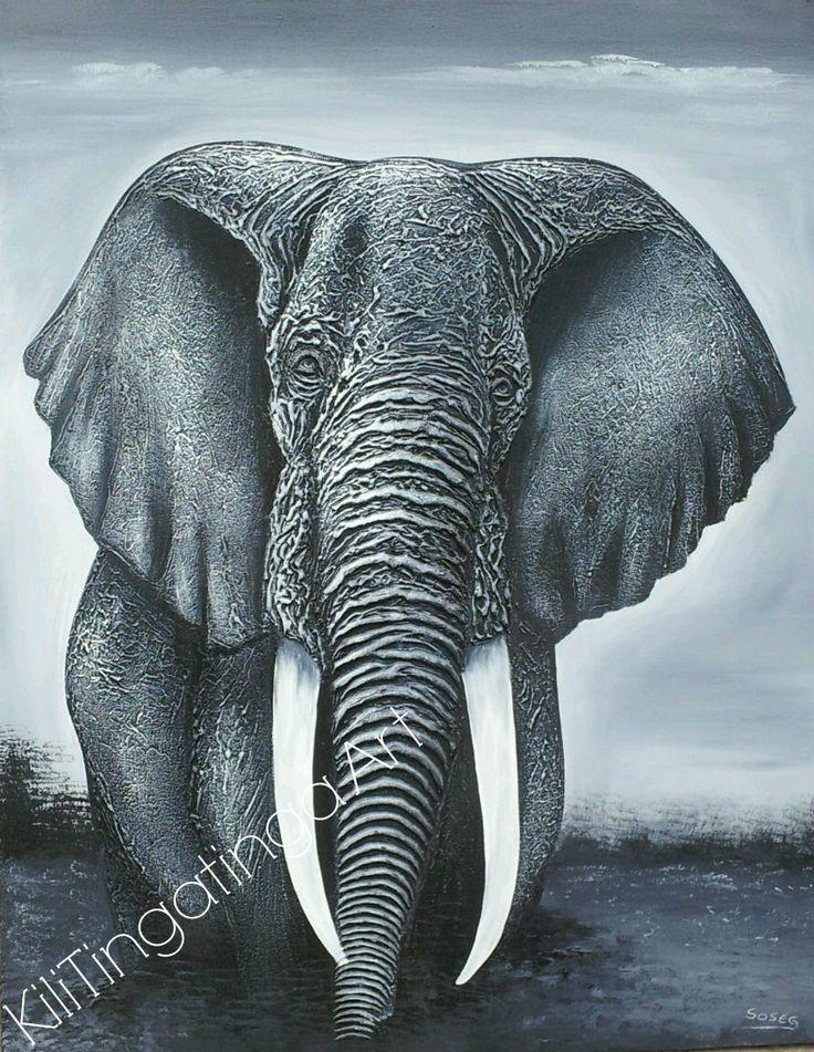 The elder               Available as commissioned word only contact us at kilitingatinga.com.au  #Elephant #Art #Kilitingatinga