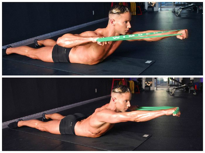 resistance band exercises for posture