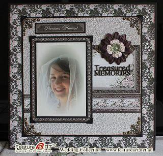 Feature Art Design: Wedding Photo Scrapbooking Layout