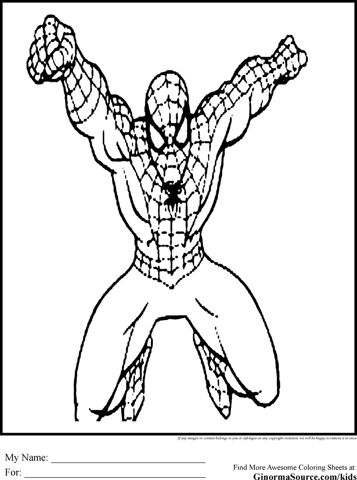 spidermand fifi coloring pages - photo#40
