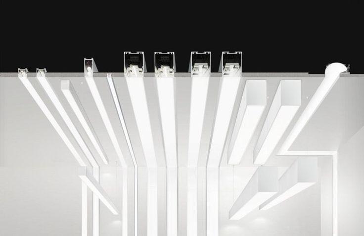 profilé en aluminium à ruban LED encastrable de design italien via anzeri