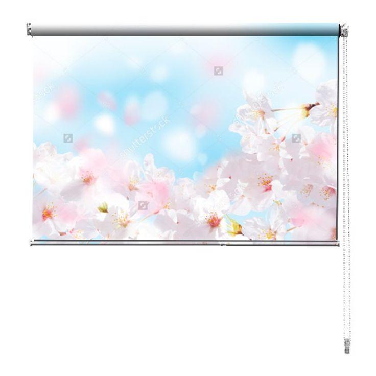 Rolgordijn Kersenbloesem | De rolgordijnen van YouPri zijn iets heel bijzonders! Maak keuze uit een verduisterend of een lichtdoorlatend rolgordijn. Inclusief ophangmechanisme voor wand of plafond! #rolgordijn #gordijn #lichtdoorlatend #verduisterend #goedkoop #voordelig #polyester #kersenbloesem #lente #roze #blauw #bloemen #bloem