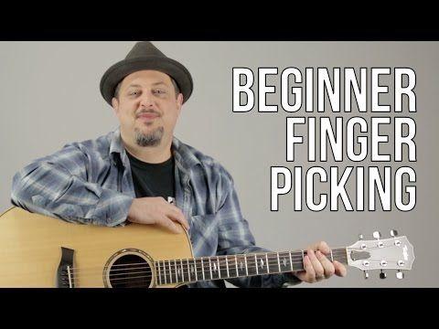 Finger Picking the Guitar - Easy Beginner Acoustic Guitar Lessons - Fingerstyle beginner - YouTube