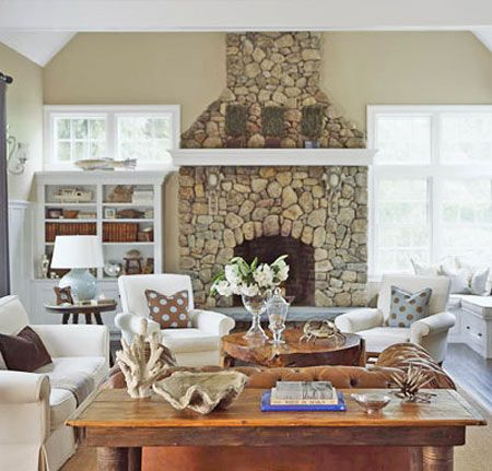42 best cottage living room images on pinterest for Cape cod decor