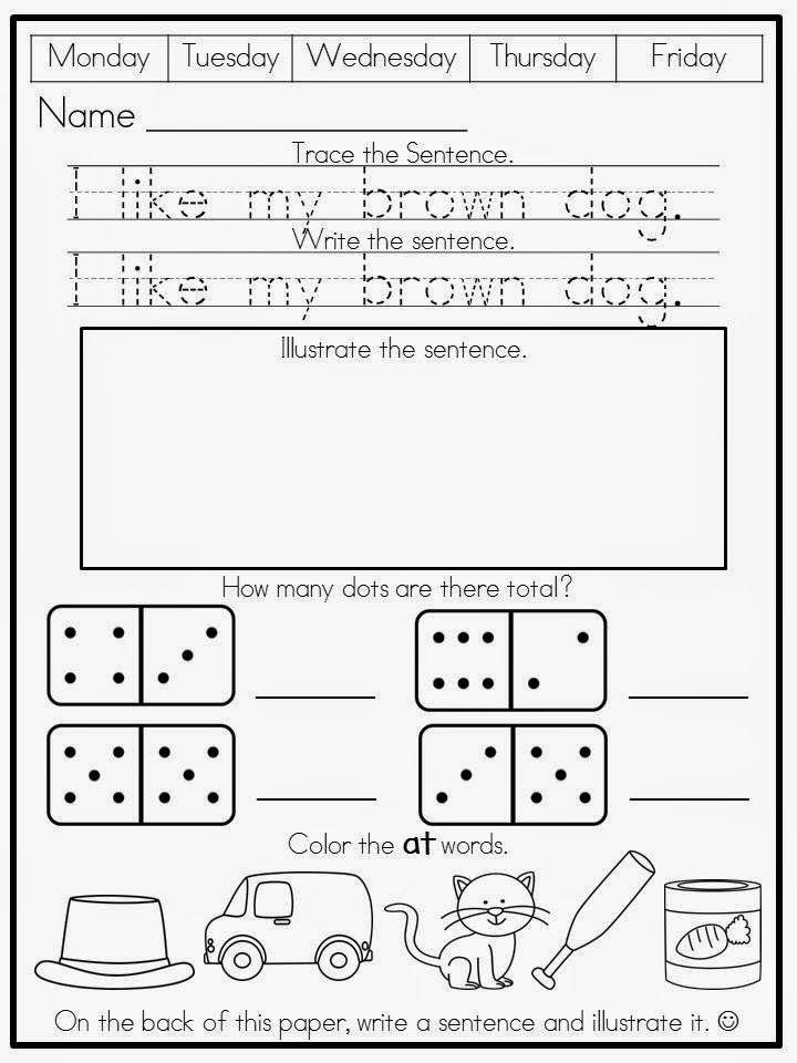 Kreative in Kinder: Morning Work FREEBIE!