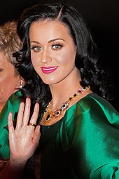 Katy Perry, 1984-, singer and songwriter, of German, English and Portuguese descent.