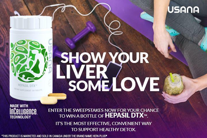 USANA Hepasil DTX™ Sweepstakes: Enter for a Chance to Win!: Enter for a chance to win one of 1,000 bottles of USANA's Hepasil DTX™ starting June 29, 2017 at 9am ET.
