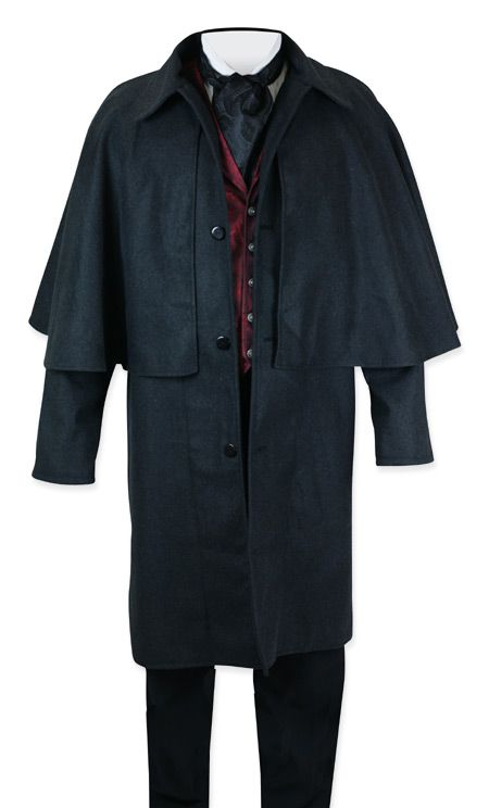 Inverness Coat - Charcoal