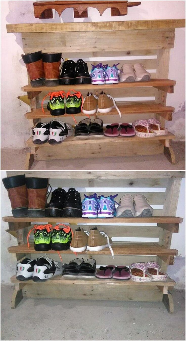 Fabulous DIY Wooden Pallet Ideas That Are Easy to Make. How adorable this shoe  rack ...