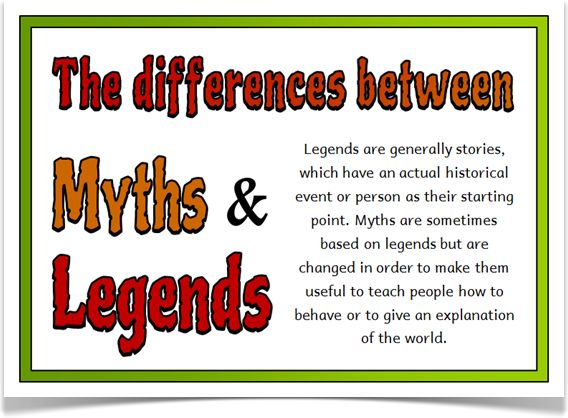 Myths and Legends - Treetop Displays - EYFS, KS1, KS2 classroom display and primary teaching aid resource