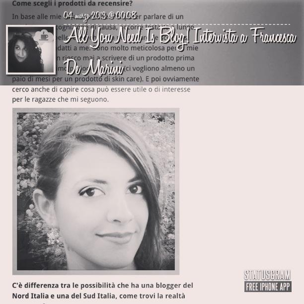 http://www.sudpress.it/sudlook/all-you-need-blog-intervista-francesca-de-marini