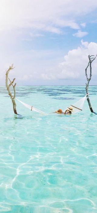 hammock in the ocean