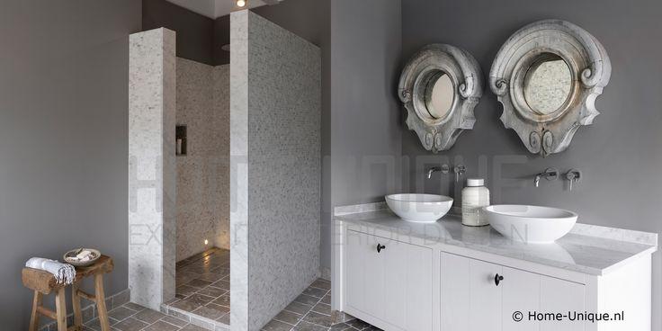 Binnenhuisarchitectuur / Interior Design Badkamer / Bathroom Landelijk Wonen by Home Unique