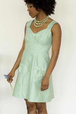Could this be a bridesmaid's dress with a little bit longer length?  I think so.