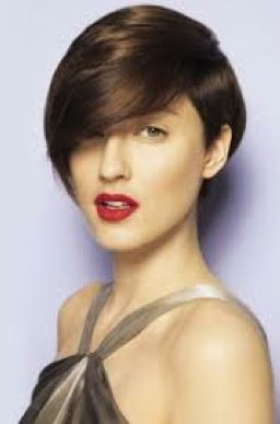 short hair with deep side part