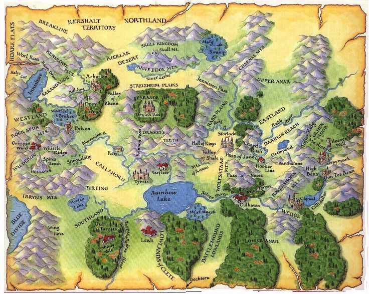 The Sword of Shannara | Map of the Four Lands