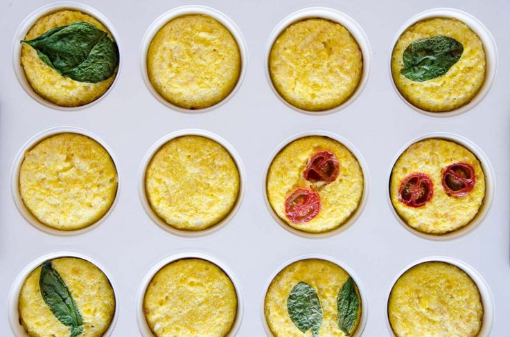 Simple Egg Muffins with Cauliflower and Cheese. Perfect for kids and baby led weaning. A Healthy breakfast or snack, packed with veggies picky eaters will never notice
