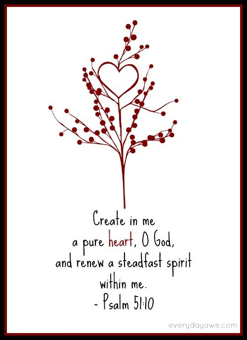 Repentance is not just about asking for forgiveness.     Repentance is about being recreated.    With a Psalm 51:10 #printable