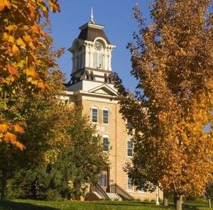 Old Main in the of Fall - 2008 - Gustavus Adolphus College