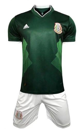 2018 World Cup Mexico Home Green Soccer Uniform  b3b06f941