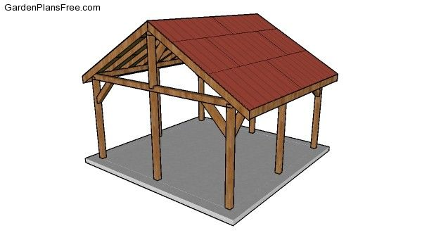 16x16 Pavilion - Free DIY Plans | Free Garden Plans - How ...