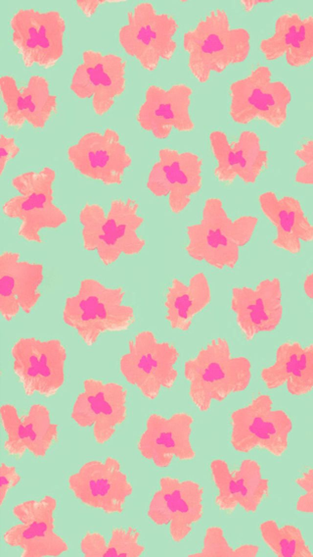 Pastel floral iphone wallpaper Background Pinterest