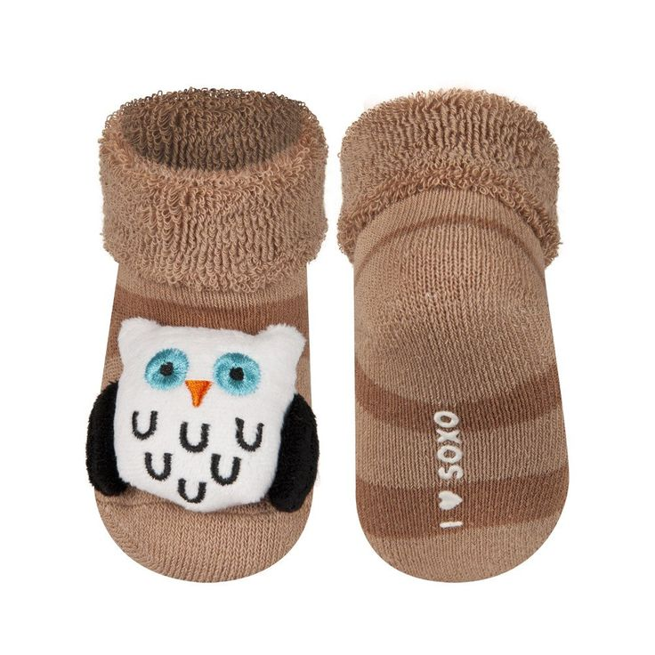 BABY RATTLE SOCKS 'SOXO' SMALL - OWL    #MamaFashionMe - Aussie Online Store with Beautiful Accessories for Girls + Some for Boys