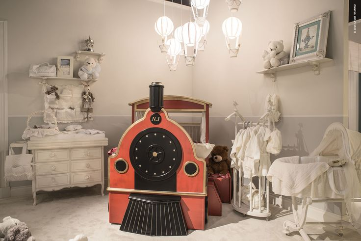 The newborns of #NotteFatata #Collection are the #Train Wagons, toys case in soft velvet, and the #Bed Train presented in a lily red #finish #furniture #iSaloniWorldWideMoscow 2016