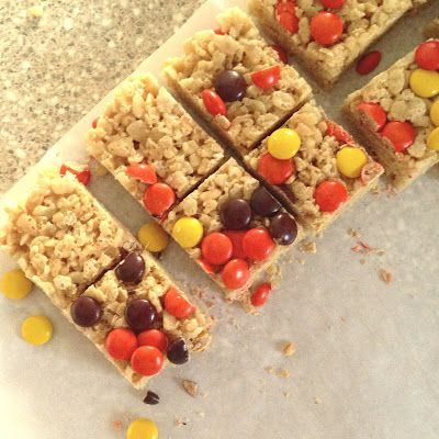What I Made For Monday - Peanut Butter Krispie Treats!