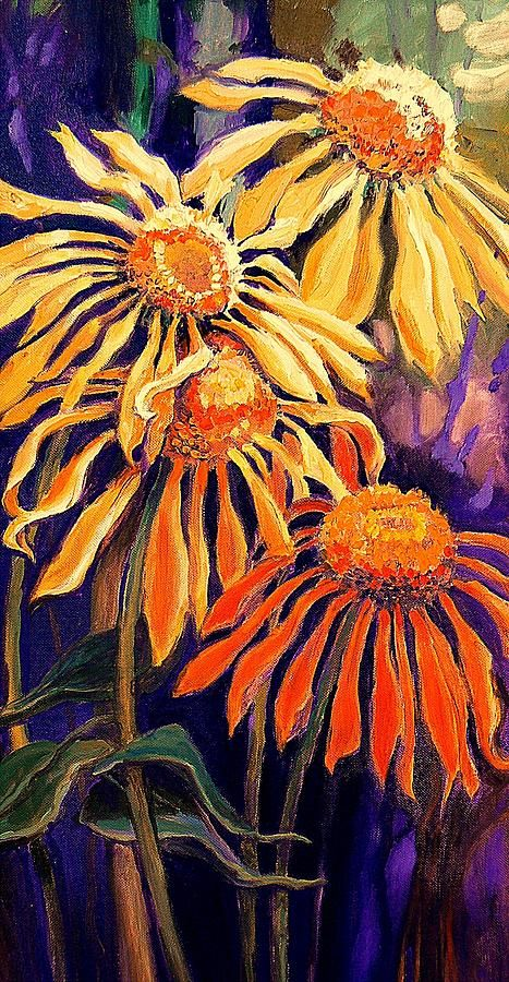 Follow the Sun by Carol Nelson  What great use of opposite colors.
