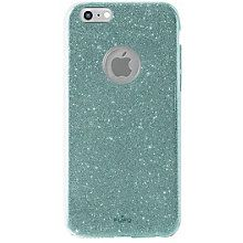 Puro iPhone 6/6S glitter etui (lyseblå)