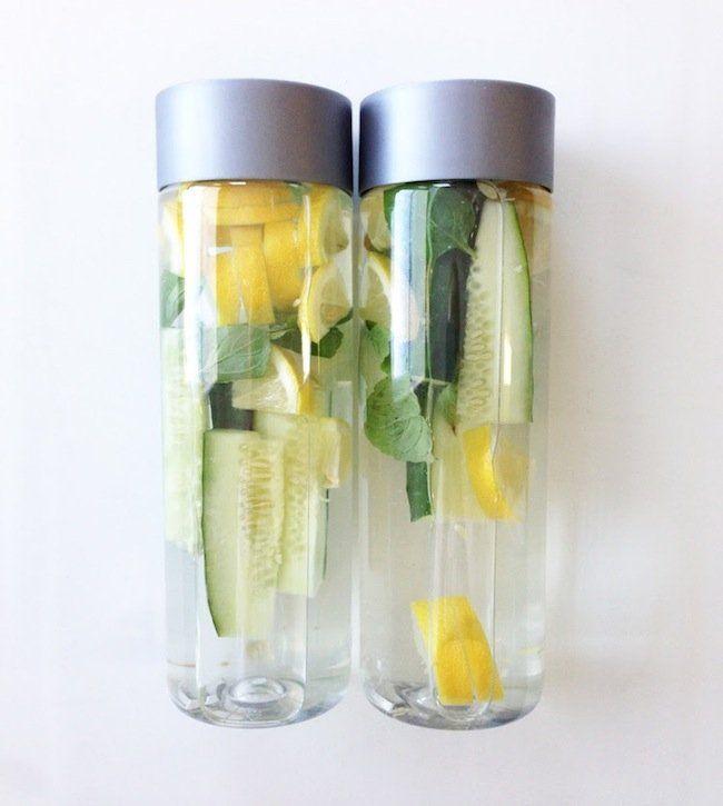 cucumber mint lemon water