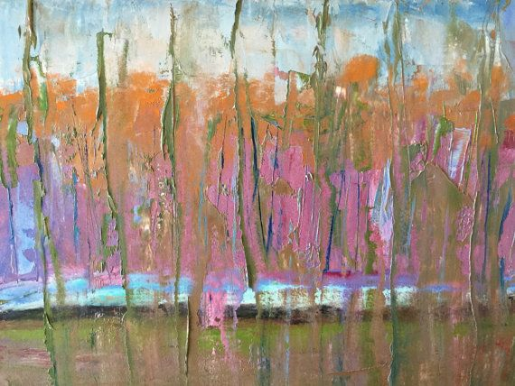 Autumn Landscape in Oil abstract oil by modernimpressionist