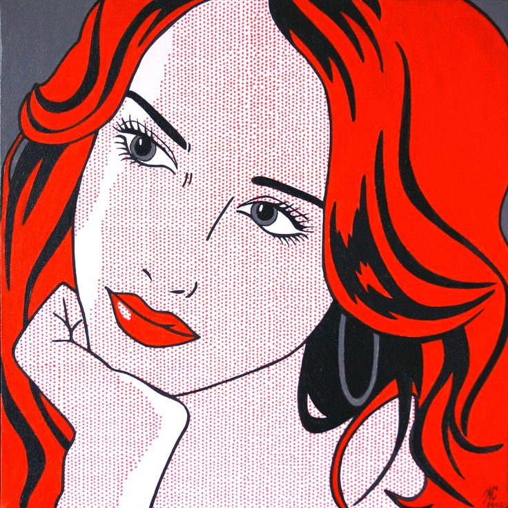 Girl with red hair (40x40) - 1200 kr.jpg (2395×2395)