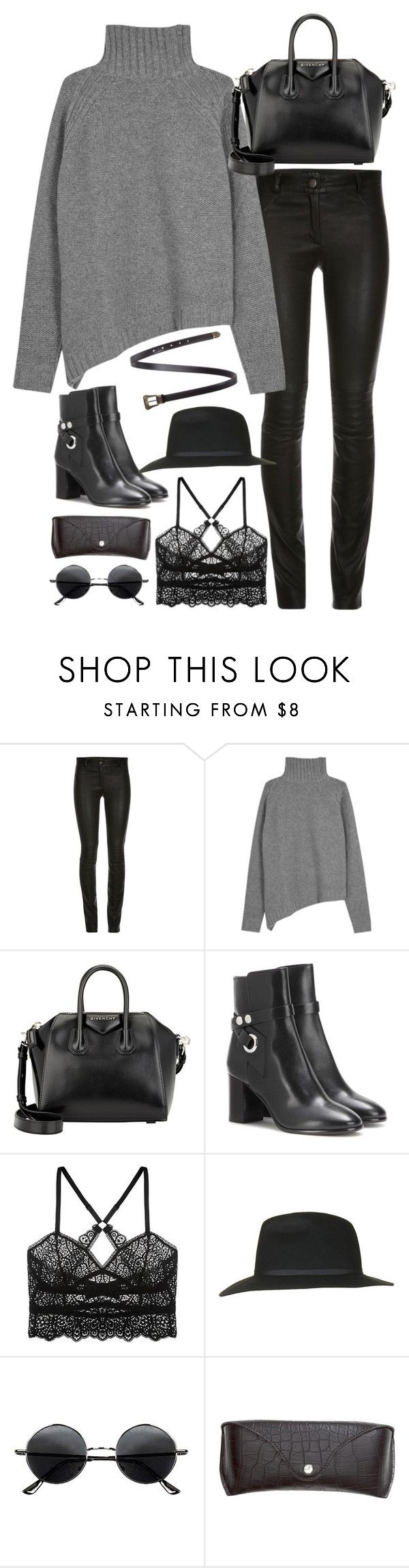 """""""Untitled#4181"""" by fashionnfacts ❤ liked on Polyvore featuring Joseph, Givenchy, Isabel Marant, ELSE, Topshop, Retrò, H&M and Yves Saint Laurent"""