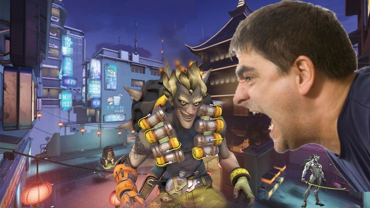 Guy yells at team and Junkrat in Overwatch Competitive