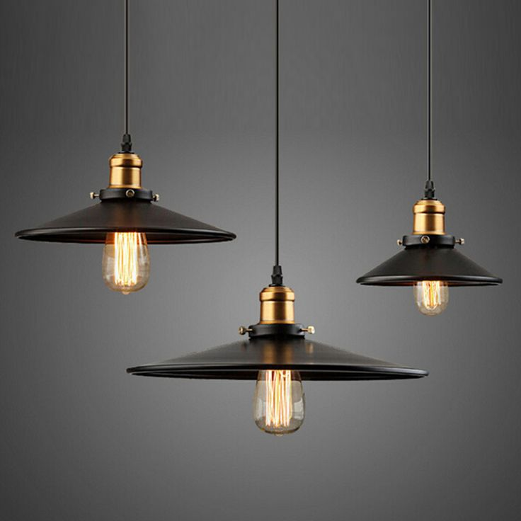 Warehouse industrial wind umbrella pendant lights American E27 bulb 40W  bar…