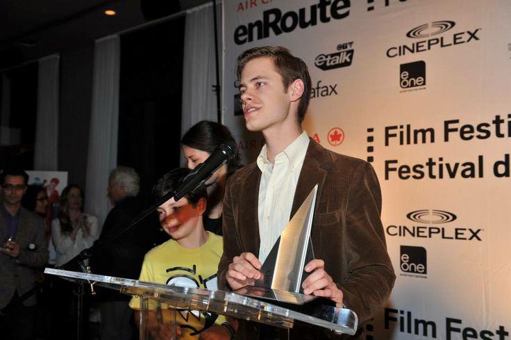 Andrew Moir (Just As I Remember), winner of the 2013 Best Short Film Award. #EFF