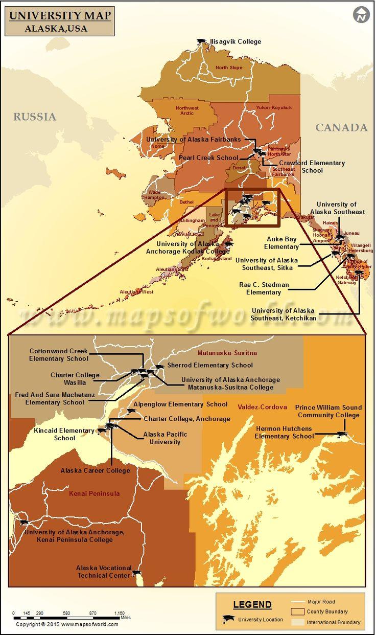 Best World News Images On Pinterest World News Travel - Alaska usa map cities