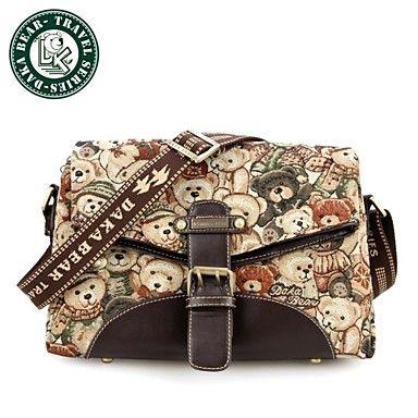 daka Bear® vrouwen engeland vintage crossbody tote bag mode handtas online - EUR € 24.59
