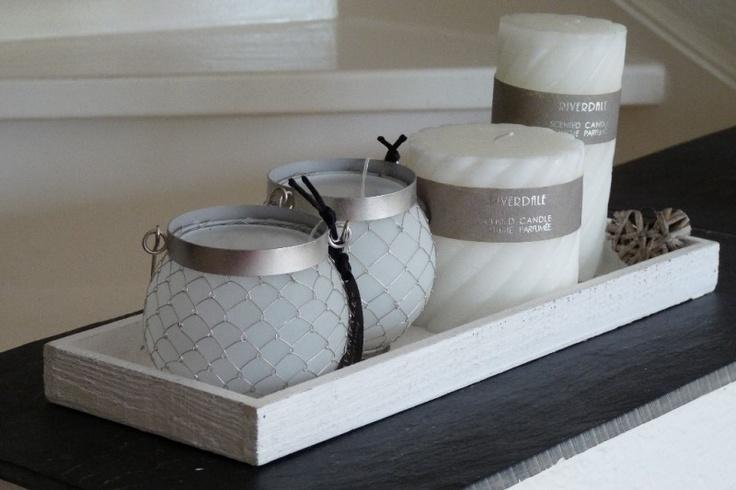 Dienblad wit hout | Dienbladen & Glaswerk | Missey & Sissey - landelijke woonaccessoires