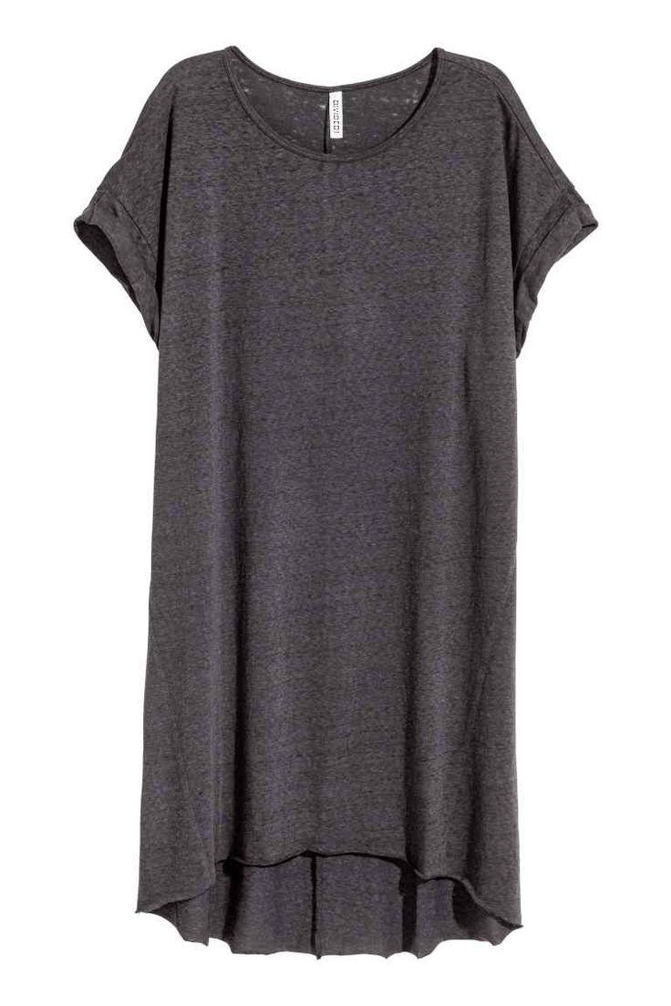 T-shirtjurk - Zwart washed out - DAMES | H&M NL