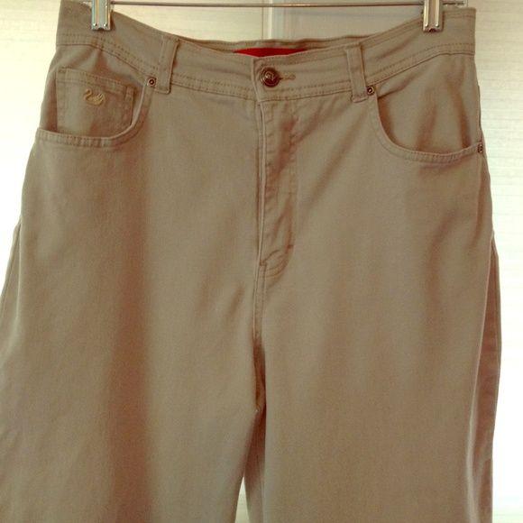 SUNDAY PRICE ✂️ Gloria Vanderbilt Khaki Jeans Excellent condition khaki jeans by Gloria Vanderbilt. Size 10. Regular fit. 97% cotton, 3% spandex. Currently marked down from $20 Gloria Vanderbilt Pants