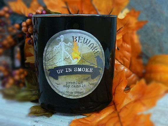 Halloween Candles - Up in Smoke Halloween Mummy on Fire ...