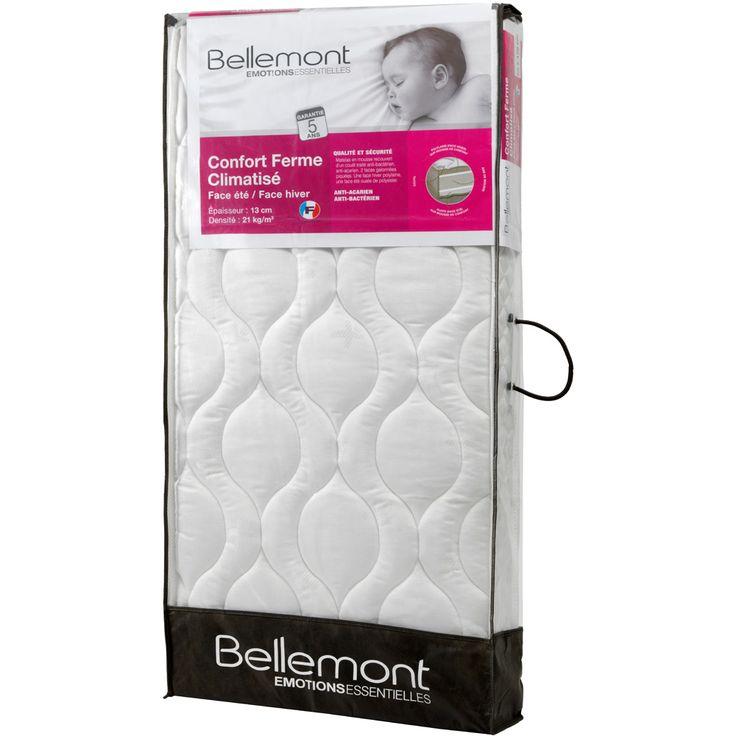 Bellemont Matelas bébé confort ferme climatisé 60 x 120 cm