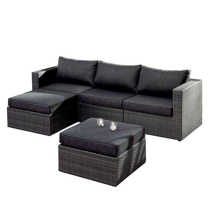 Rattan Lounge Anthrazit sdatec.com