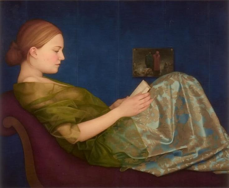 woman reading by Ellen de Groot