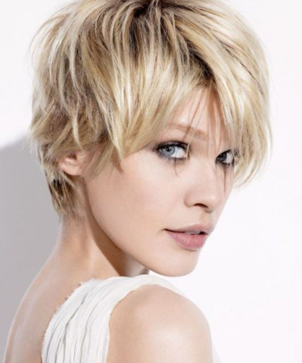 Cute Short Side Swept Pixie