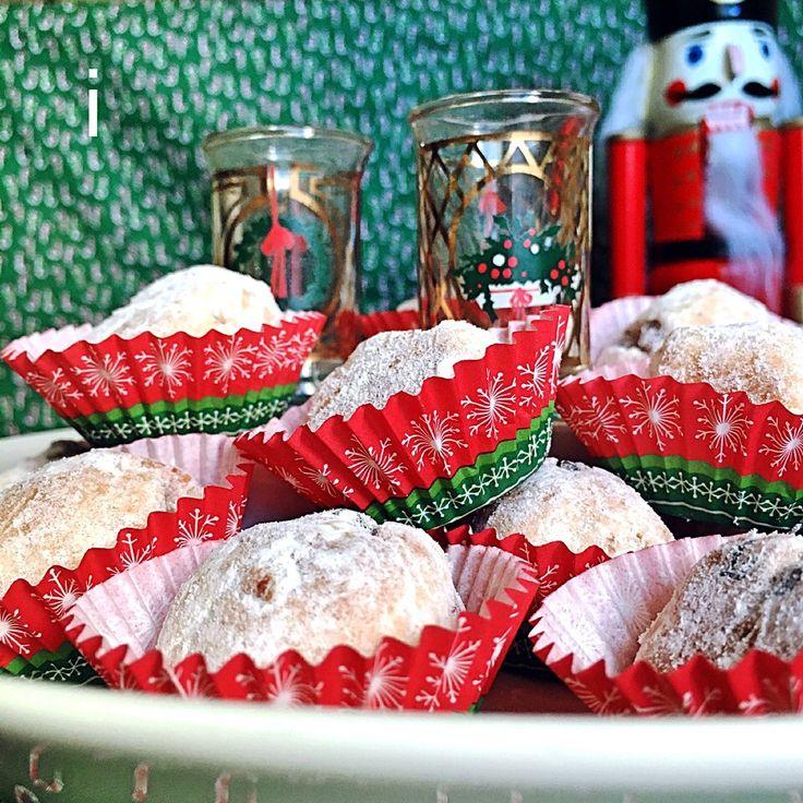 izoom's dish photo btnonちゃんの料理 シュトレン風スノーボール  Little snow balls like Stollen   http://snapdish.co #SnapDish #レシピ #クリスマスグランプリ2015 #ドイツ料理 #クリスマス #クッキー #おやつ